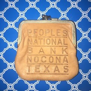 Vintage Nocona Tan Leather Coin Pouch